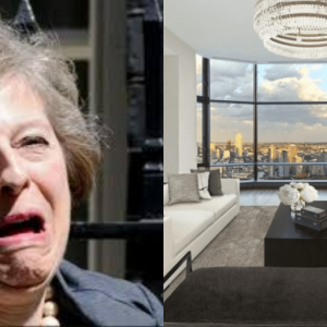 Theresa May and Luxury government apartment in US